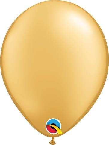 "Qualatex Latexballon Metallic Gold 13cm/5"" 100 Stück"