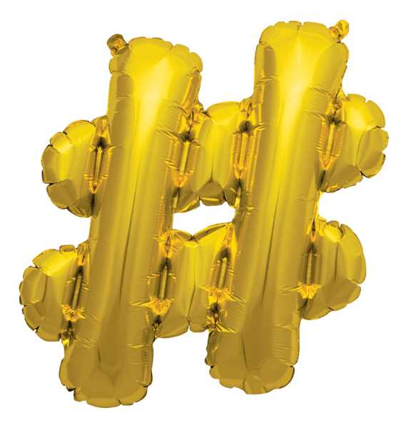 "Northstar Folienballon Buchstabe # Gold 16"""