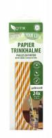 grinx Trinkhalm gelb/weiß 24 Stück 20cm x 6mm