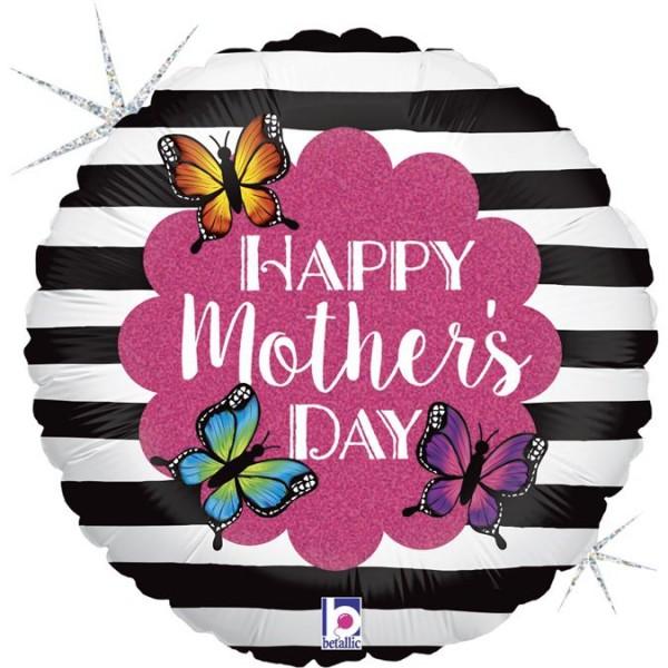 "Betallic Folienballon Radiant Butterfly Mom Glitter Holographic 23cm/9"""