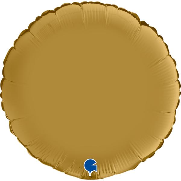 "Grabo Folienballon Round Satin Gold 45cm/18"""