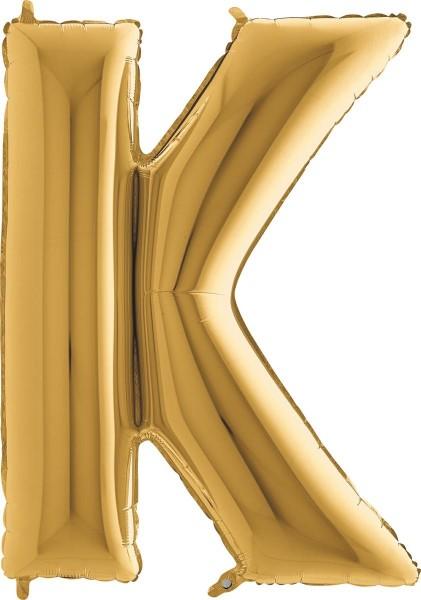 """Grabo Folienballon Buchstabe K Gold 100cm/40"""""""