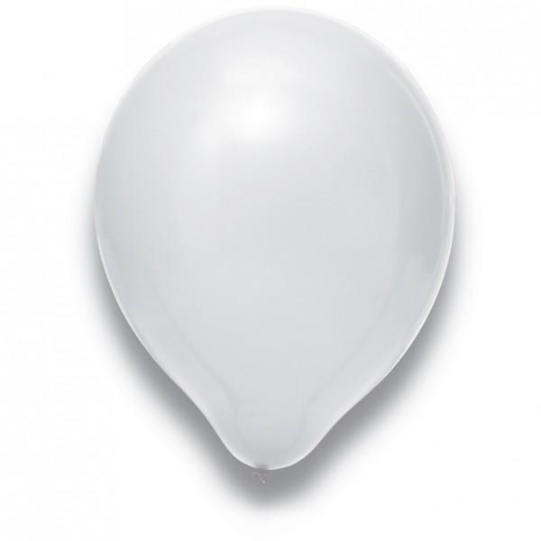 Globos Luftballons 100er Packung 30cm Durchmesser Weiß Naturlatex