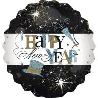 "Anagram Folienballon ""Happy New Year!"" Elegant Celebration Holo 70cm/27"""