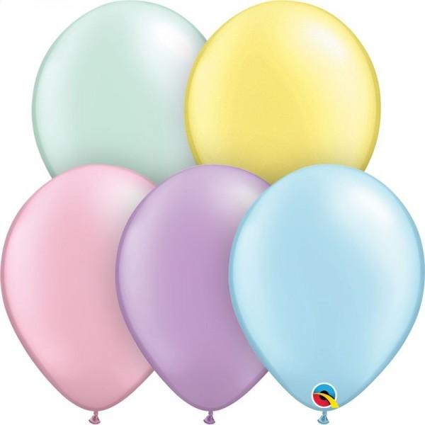 """Qualatex Latexballon Pastel Pearl Assortment 28cm/11"""" 100 Stück"""