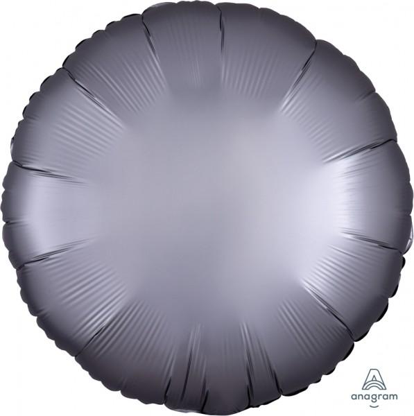 """Anagram Folienballon Rund Satin Luxe Platinum 45cm/18"""""""