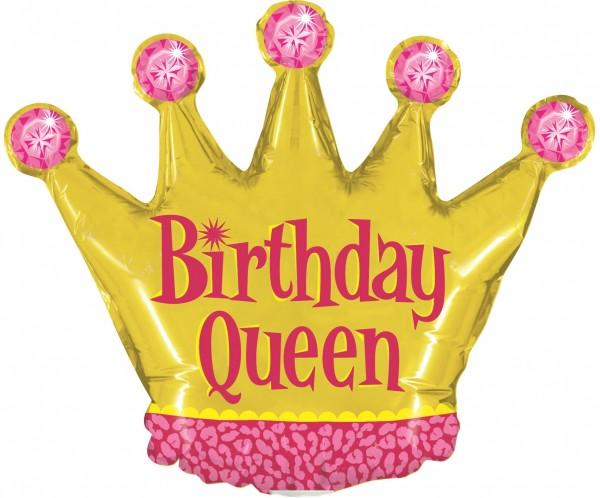 "Betallic Folienballon Birthday Queen Mini 35cm/14"""