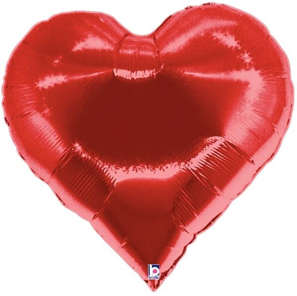 "Betallic Folienballon Casino Heart (Herz) 75cm/30"""
