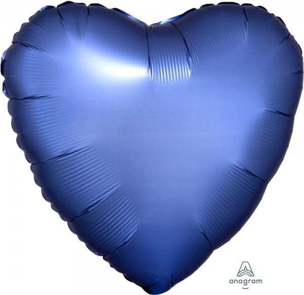 "Anagram Folienballon Herz 45cm Durchmesser Satin Azurblau 17"""