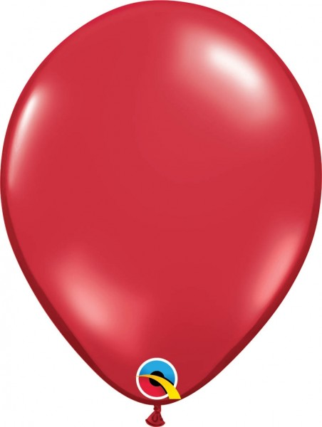 "Qualatex Latexballon Jewel Ruby Red 28cm/11"" 100 Stück"