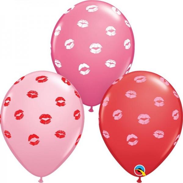 "Qualatex Latexballon Kissey Lips 28cm/11"" 25 Stück"