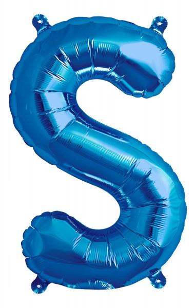 "Northstar Folienballon Buchstabe S Blue 40cm/16"""
