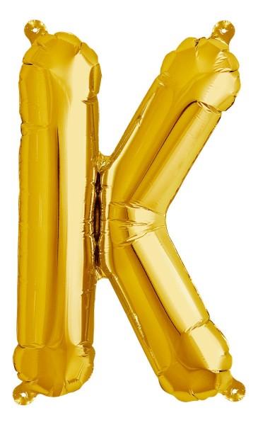 "Northstar Folienballon Buchstabe K Gold 40cm/16"""