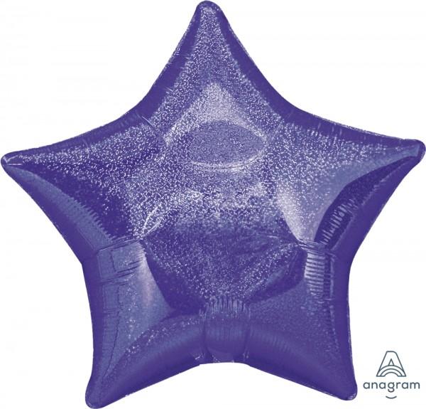 "Anagram Folienballon Jumbo Stern Dazzler Purple Holo 80cm/32"""
