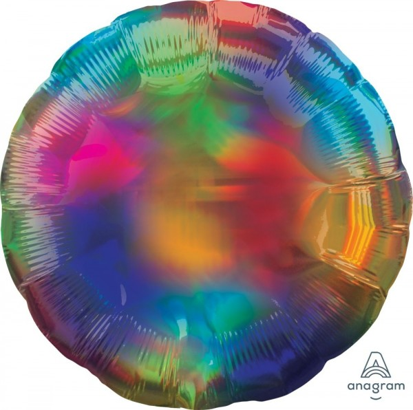 Anagram Folienballon Rund Iridescent Rainbow 45cm/18""