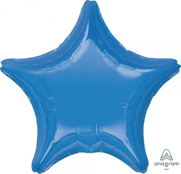 "Anagram Folienballon Stern Medium Blue 50cm/20"""