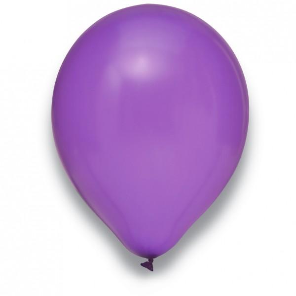 Globos Luftballons 100er Packung 30cm Durchmesser Metallic Lila Naturlatex