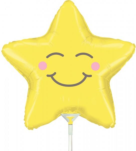 "Betallic Folienballon Chubby Star Mini 35cm/14"" luftgefüllt inkl. Stab"