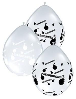 "Qualatex Latexballon Geldbombe Diamond Clear 12cm/5"" 100 Stück"
