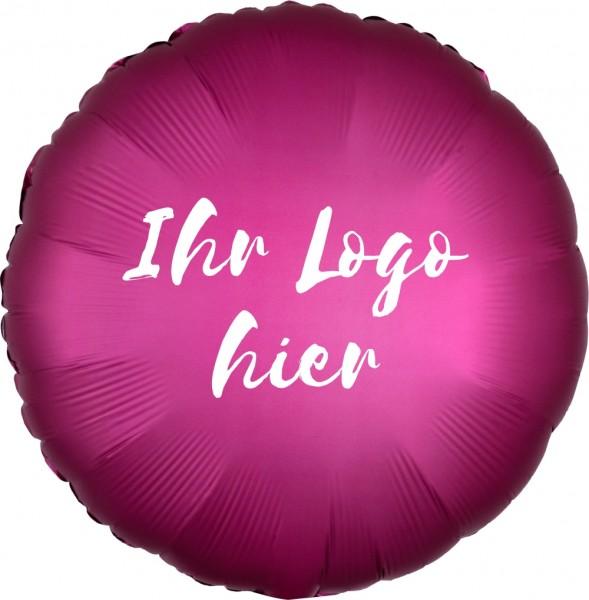 """Folien-Werbeballon Rund Satin Luxe Pomegranate 45cm/18"""" 1-Seitig bedruckt"""