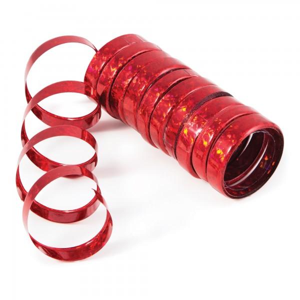 Creative Holo-Folienluftschlangen Rot 10er Röllchen