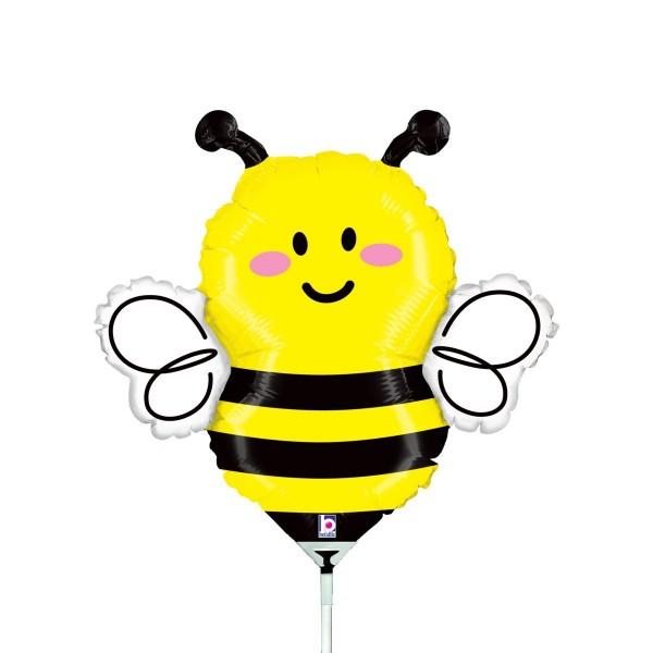 "Betallic Folienballon Bee Mini 35cm/14"" luftgefüllt inkl. Stab"