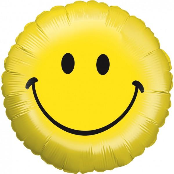 "Betallic Folienballon Smiley 23cm/9"""