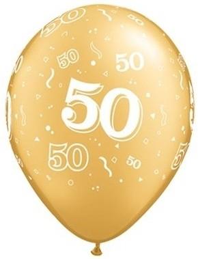 "Qualatex Latexballon 50 Metallic Gold 12cm/5"" 100 Stück"