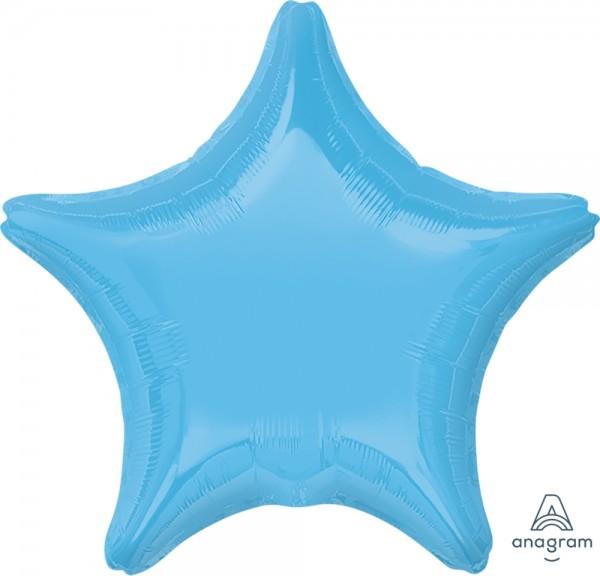 "Anagram Folienballon Stern Pale Blue 50cm/20"""