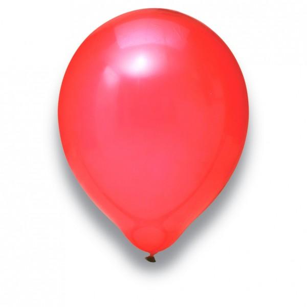 Globos Luftballons 100er Packung 30cm Durchmesser Rot Naturlatex