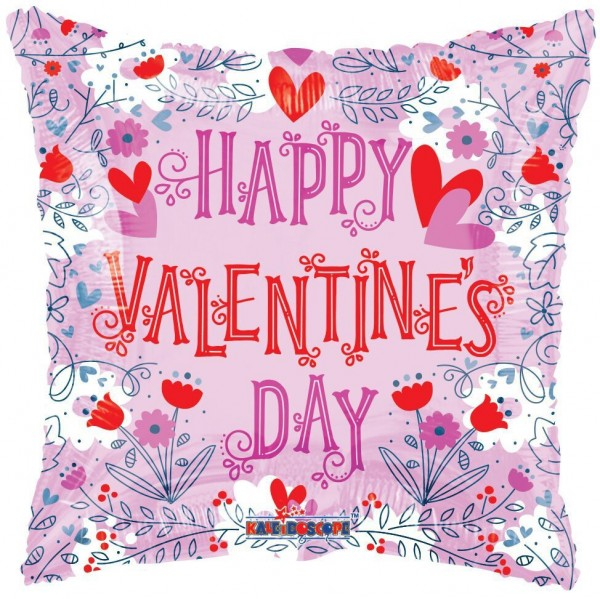 "Kaleidoscope Folienballon Happy Valentines Day Lined Gellibean 18"" F"
