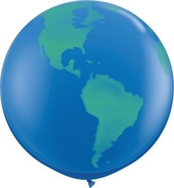Qualatex Latexballon Globe Dark Blue 90cm/3' 2 Stück