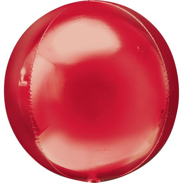"""Anagram Folienballon Orbz Red 40cm/16"""""""