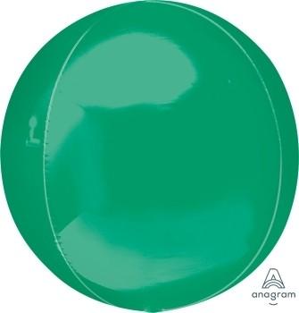 Anagram Folienballon Orbz 40cm Durchmesser Grün (Green)