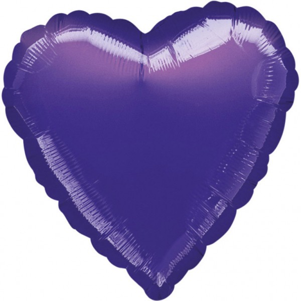 Anagram Folienballon Herz Metallic Purple 45cm/18""