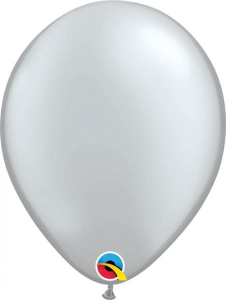 "Qualatex Latexballon Metallic Silver 28cm/11"" 100 Stück"