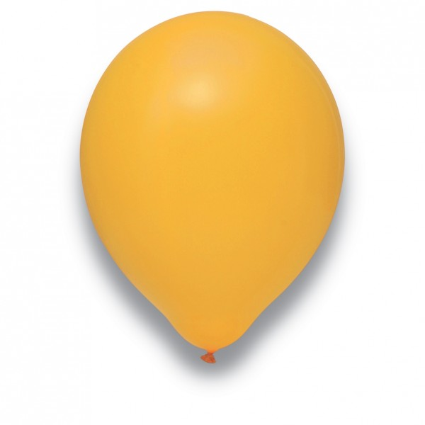 "Globos Luftballons Mandarine Naturlatex 30cm/12"" 100er Packung"