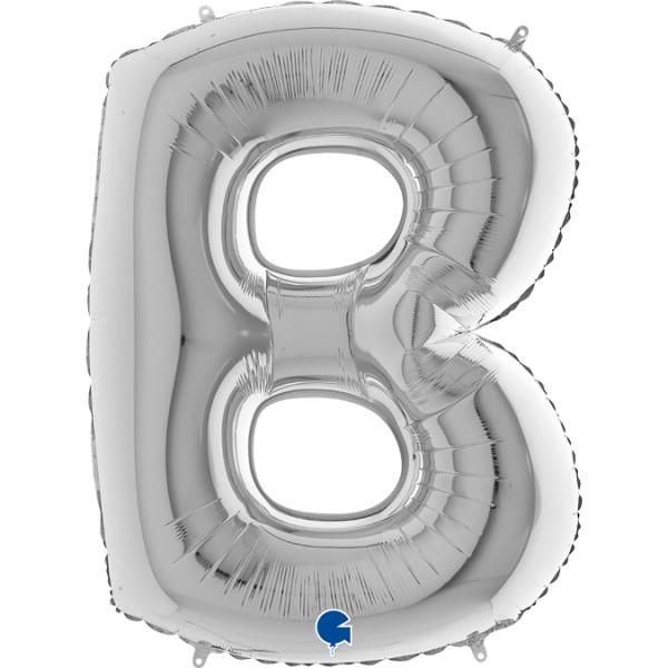 "Grabo Folienballon Buchstabe B Silver 100cm/40"""