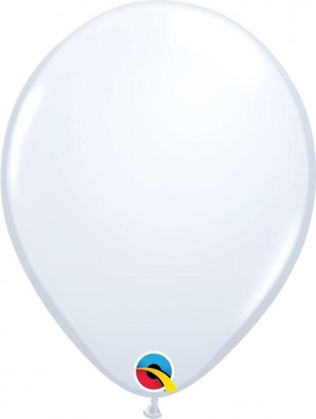 "Qualatex Latexballon White 28cm/11"" 6 Stück"