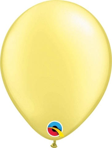 "Qualatex Latexballon Pastel Pearl Lemon Chiffon 13cm/5"" 100 Stück"