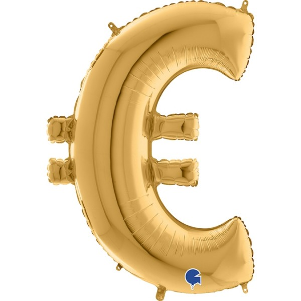 "Grabo Folienballon Gold 100cm/40"" Zeichen €"