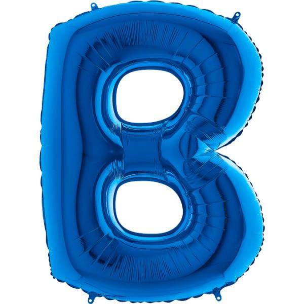 "Grabo Folienballon Buchstabe B Blue 100cm/40"""