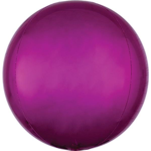 "Anagram Folienballon Orbz Bright Pink 40cm/16"""