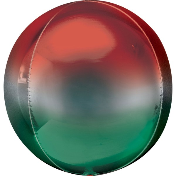 Anagram Folienballon Orbz Ombré Red & Green 40cm/16""