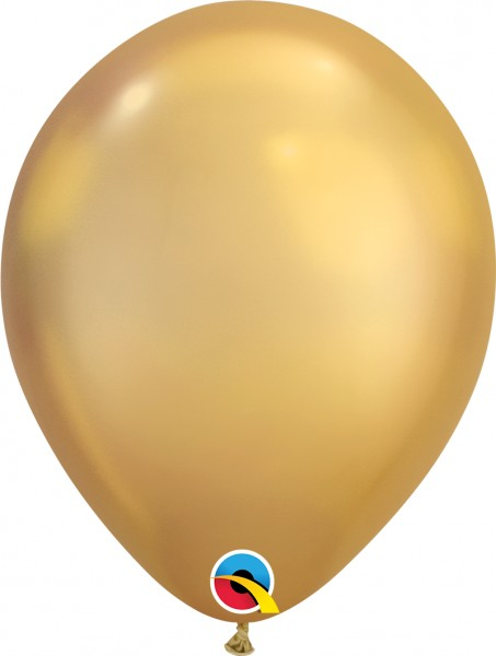 "Qualatex Latexballon Chrome Gold 28cm/11"" 100 Stück"