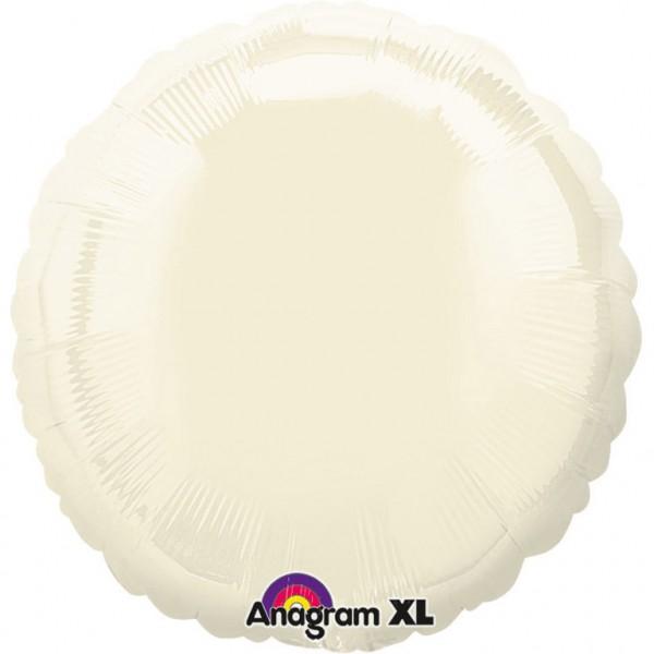 "Anagram Folienballon Rund Iridescent Pearl Ivory 45cm/18"""