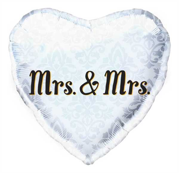 Northstar Folienballon Mrs. & Mrs. Heart 18""