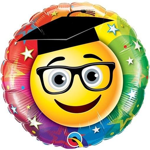 "Qualatex Folienballon Smiley Graduate 23cm/9"""