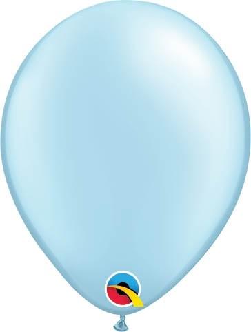 "Qualatex Latexballon Pastel Pearl Light Blue 13cm/5"" 100 Stück"