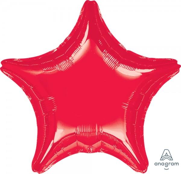 "Anagram Folienballon Jumbo Stern Metallic Red 80cm/32"""